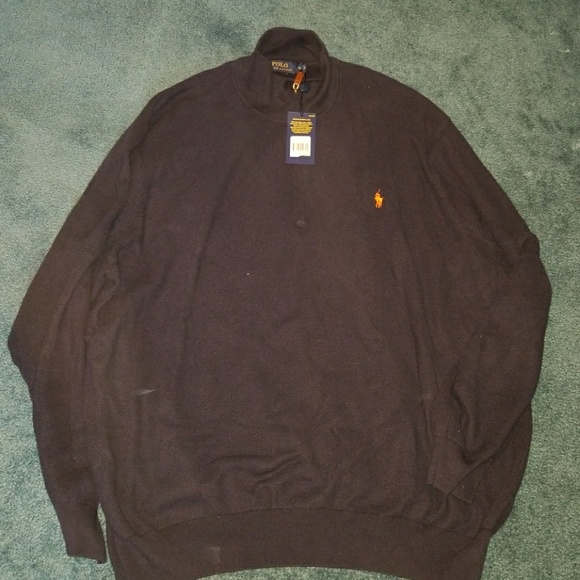 21a4bba207a2f7 NWT Ralph Lauren Polo 1/4 zip sweater (big & tall).  M_5ab03e9a00450f0821f15438
